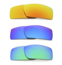 NEW POLARIZED CUSTOM FIRE/BLUE/GREEN LENS FOR OAKLEY GASCAN SUNGLASSES